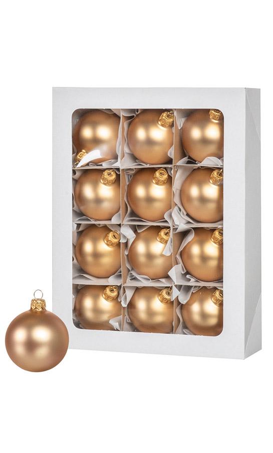 Bombki choinkowe złote 12 szt. 6 cm