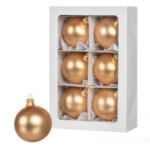 Bombki choinkowe złote 6 szt. 8 cm