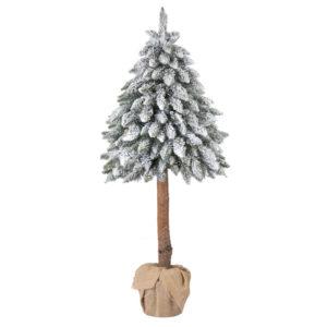 Искусственная елка ели на стволе со снегом